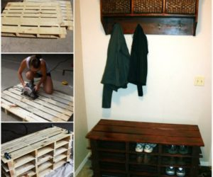 step by step pallet shoe rack