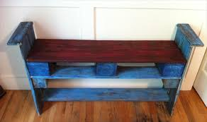 Pallet Shoe Rack in Blue