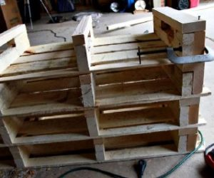 Pallet Shoe Rack Design