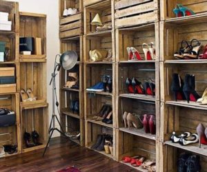 build a pallet shoe rack