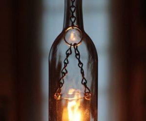 glasswine bottle candle holders
