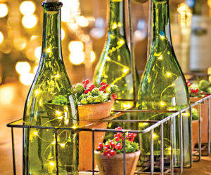 Wine Bottle Candle Holder for Décor