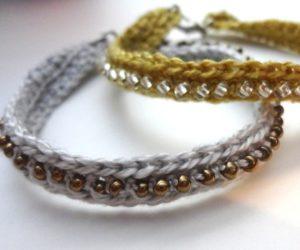 crochet bracelet beads pattern free