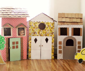 Decorated Cardboard Playhouse
