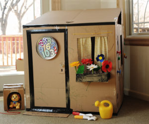 Amazing Cardboard Box Playhouse