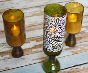 Wine Bottle Candle Holder Decorations