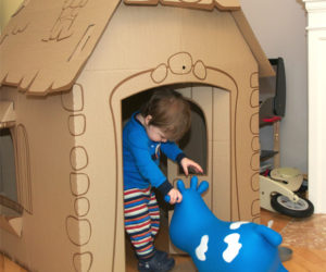 cardboard playhouse homebase