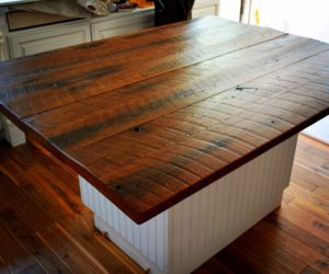 Distressed Wooden Countertops