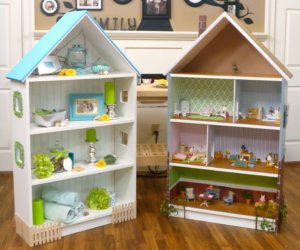 dollhouse bookcase diy
