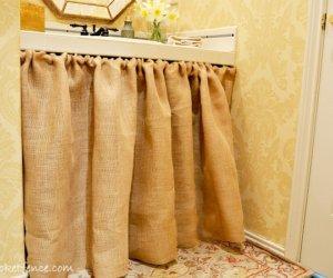 DIY Curtain No-Sew