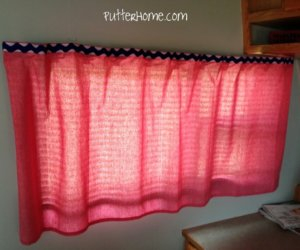 No-Sew RV Curtain