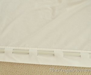 No-Sew Curtain Out Of Sheets