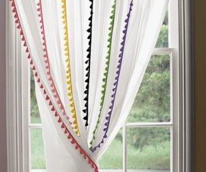 Homemade No-Sew Curtains