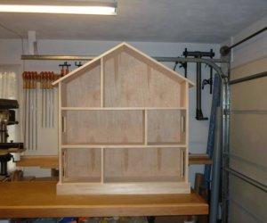 Unfinished Dollhouse Bookcase
