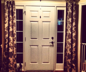 No-Sew Sidelight Curtains