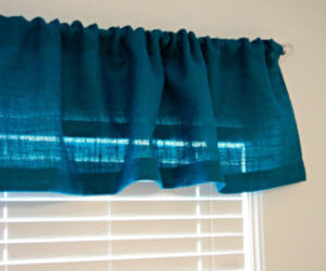 colored burlap valance