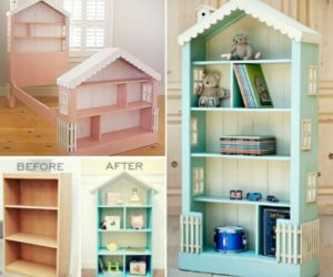 how to make adollhouse bookcase