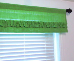 burlap country valances