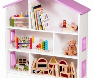 dollhouse bookcase with doors