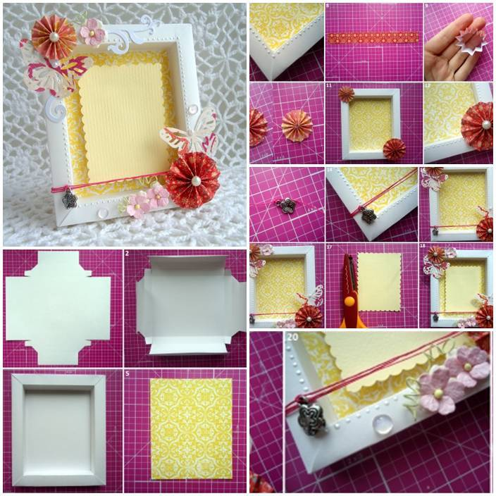 how to make a paper picture frame stand