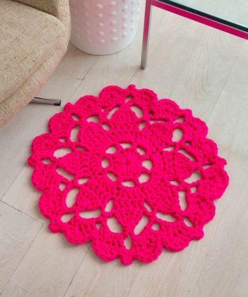 Crochet Flower Rug Pattern