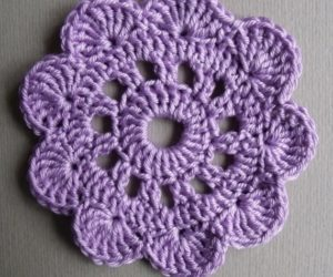 Flower Crochet Coaster Tutorial