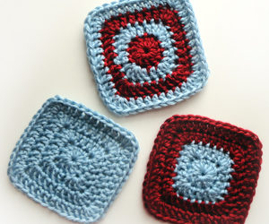 Crochet Square Coasters