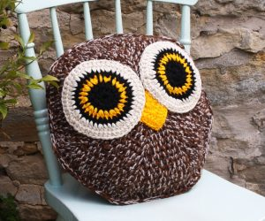 Crochet Owl Pillow free Pattern
