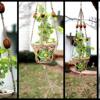 19 Macramé Plant Hanger Patterns & Instructions