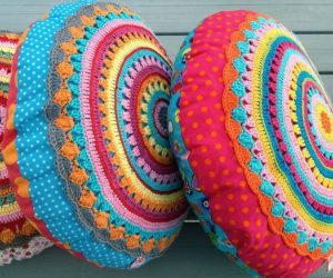 crochet round pillow patterns